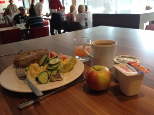 breakfast in Kaunas Ibis Hotel